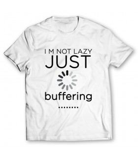 just buffering printed graphic t-shirt