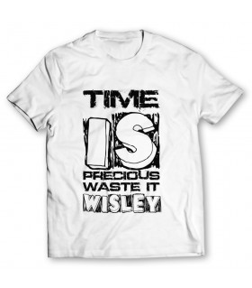 time is precious printed graphic t-shirt