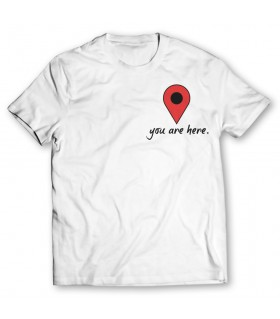 you are here printed graphic t-shirt