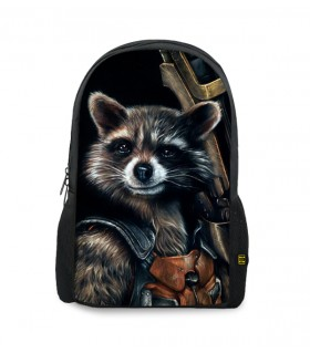 rocket raccoon printed backpacks