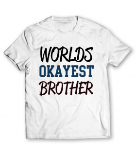 worlds okayest brother printed graphic t-shirt