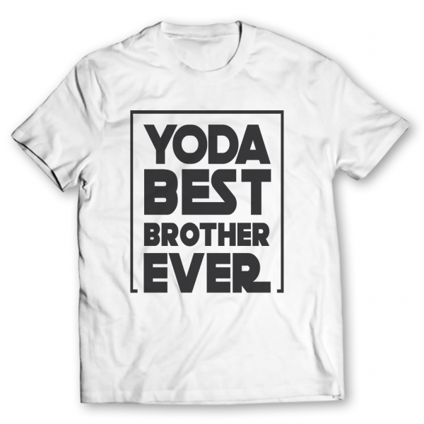 yoda best brother ever printed graphic-t-shirt