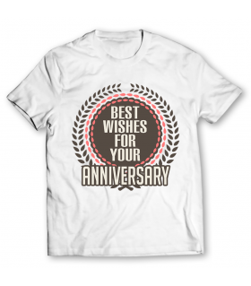anniversary printed graphic t-shirt