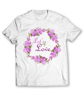 love printed graphic t-shirt