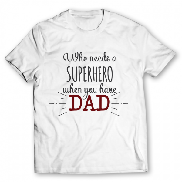 dad printed graphic t-shirt