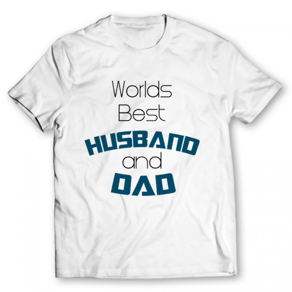husband and dad printed graphic t-shirt