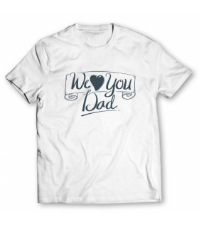 we love you printed graphic t-shirt