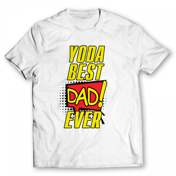 yoda best dad ever printed graphic t-shirt
