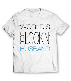 lookin husband printed graphic t-shirt