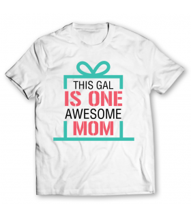 awesome mom printed graphic t-shirt