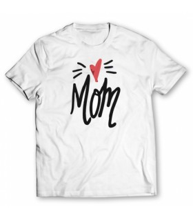 mom printed graphic t-shirt