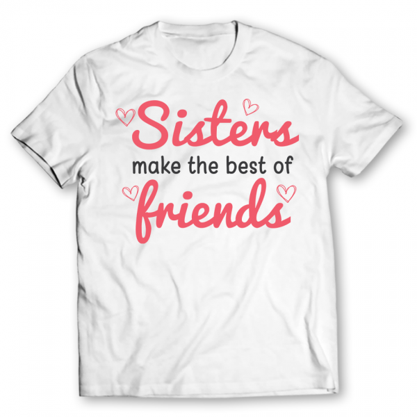 Sisters Friends Printed Graphic T-Shirt