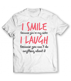 smile printed graphic t-shirt