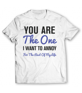 you are the one graphic t-shirt
