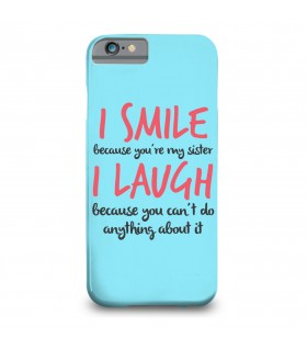 i smile printed mobile cover