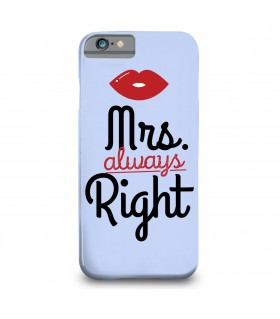 mrs always right printed mobile cover