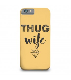 thug wife printed mobile cover