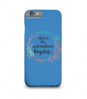 adventure begins printed mobile cover