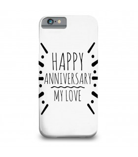 happy anniversary printed mobile cover