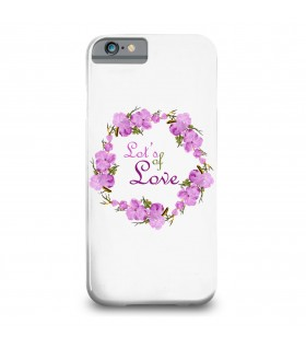 love printed mobile cover