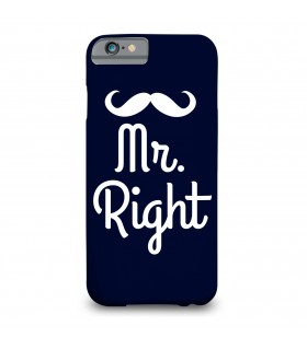 mr right printed mobile cover