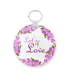 love printed keychain