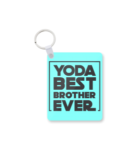yoda best brother printed keychain
