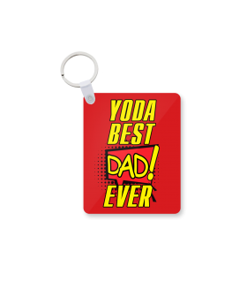 yoda best dad printed keychain