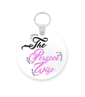 perfect wife printed keychain