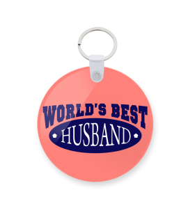 best husband printed keychain