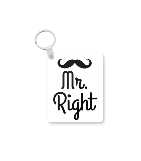 mr right printed keychain