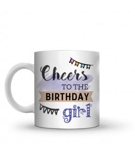 cheers to the birthday printed mug