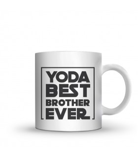 yoda best brother printed mug