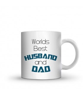husband and dad printed mug