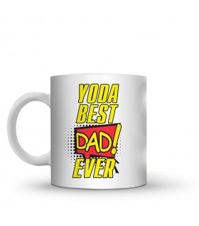 yoda best dad printed mug