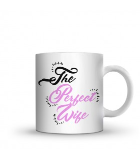 perfect wife printed mug