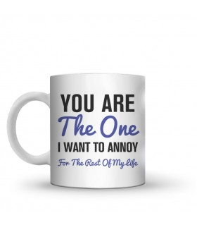 you are the one printed mug