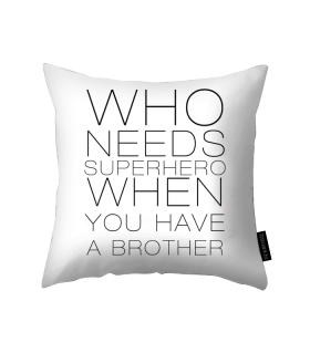 a brother printed pillow