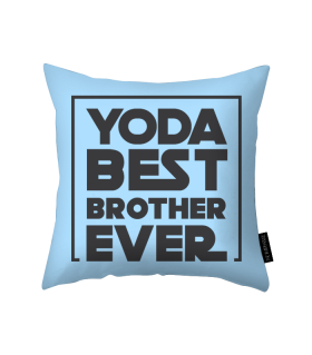yoda best brother printed pillow