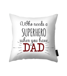 dad printed pillow
