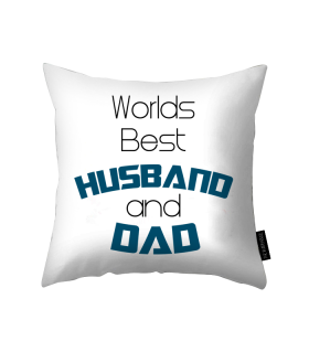 husband and dad printed pillow