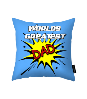 worlds greatest dad printed pillow