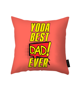 yoda best dad printed pillow