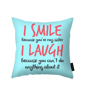 i smile printed pillow