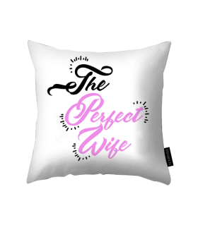 perfect wife printed pillow