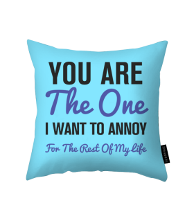 you are the one printed pillow