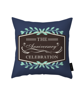 anniversary printed pillow