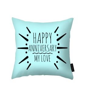 happy anniversary printed  pillow