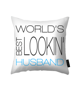 husband printed pillow