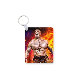brock lesnar printed keychain